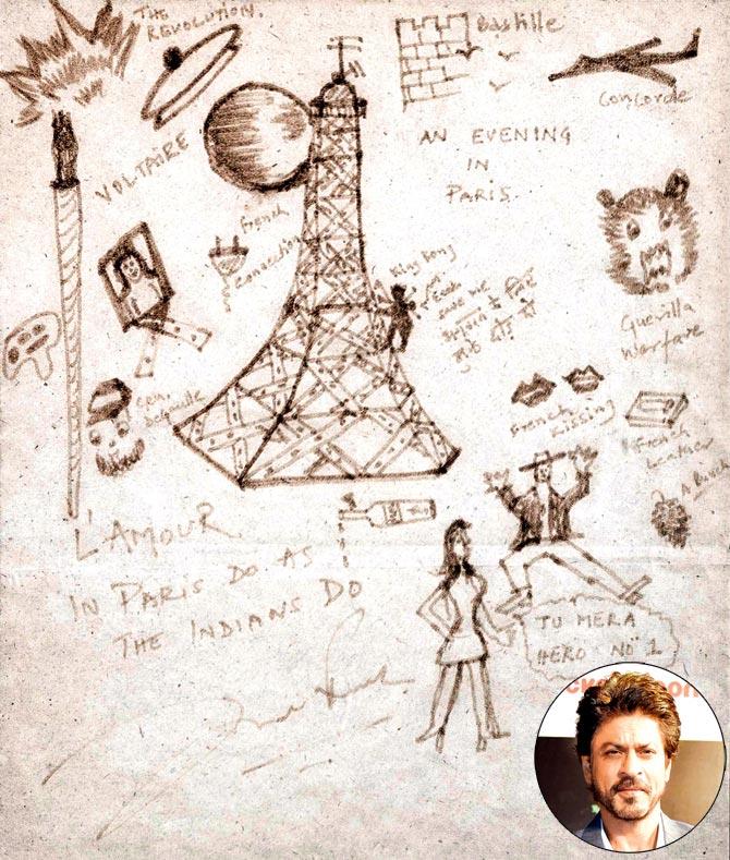 SRK Doodle headlinesthatmatter